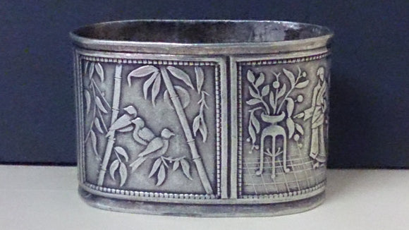 Napkin Ring Holder Metal Embossed Detailed Workmanship Lots Of Imagery - Roadshow Collectibles