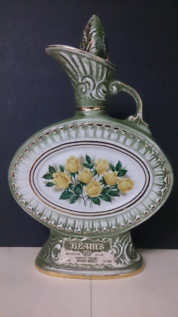 James B Beam Yellow Roses Whiskey Decanter, Regal China, 1969 - Roadshow Collectibles