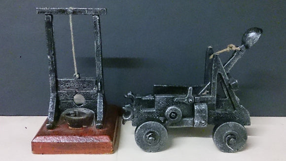 A Pair of Bookend Catapults