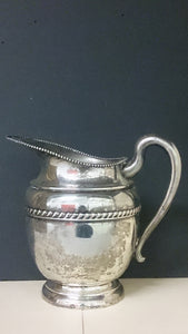 Nicely Detailed Silver on Copper Pitcher with Markings M S and J 51 - Roadshow Collectibles