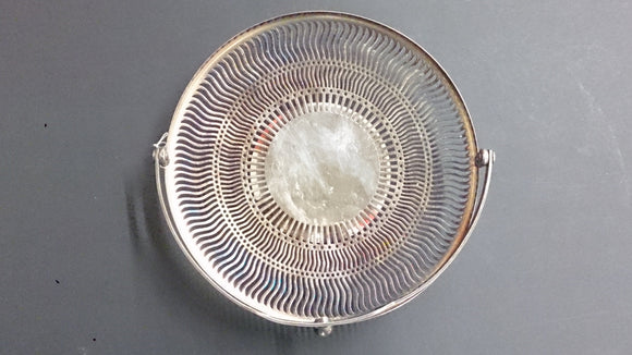 Sheffield Nickel Silver Tray, with Handle, with Marks B R S and 2265 - Roadshow Collectibles