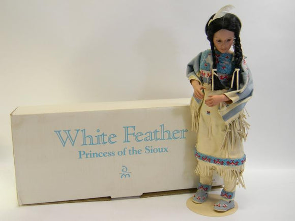 Danbury Mint White Feather 'Princess of the Sioux' Porcelain Doll - Roadshow Collectibles