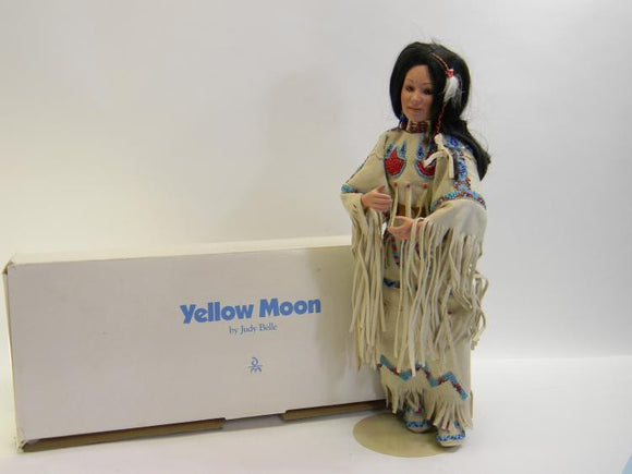 Danbury Mint Yellow Moon 'Native American Bride Collection' Porcelain Doll - Roadshow Collectibles