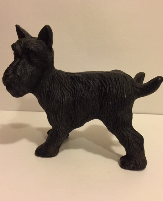 Early Cast Iron Scottie Dog Door Stopper - Roadshow Collectibles