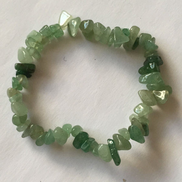 Stretchable Bracelet with Aventurine Beads - Roadshow Collectibles