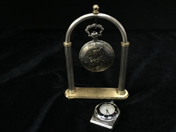 Double Eagle Commemorative Solitaire Pocket Watch with Desk Top Stand - Roadshow Collectibles