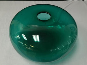 Mid-Century Vase Hand Blown, Shaped Like an Orb Flattened Base, Green - Roadshow Collectibles
