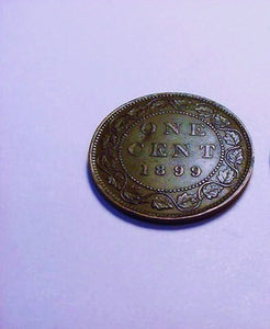 Canadian One Cent 1899, VF+ Extra Fine - Roadshow Collectibles