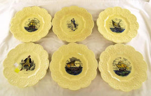 Coalport Decorative Plate Set Of 6 Pieces, 1891 to 1919, England - Roadshow Collectibles