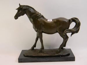 Miguel Fernando Lopez (Milo) Bronze Sculpted Horse Stone Base, Signed - Roadshow Collectibles