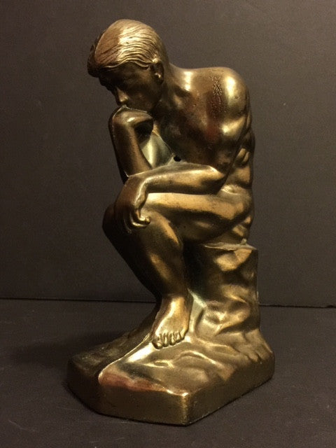 Thinker Man Statue, Pot Metal 1928 - Roadshow Collectibles