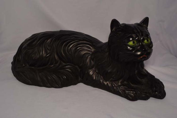 Large Ceramic Black Cat with Green Eyes that Just Pop Out At You - Roadshow Collectibles