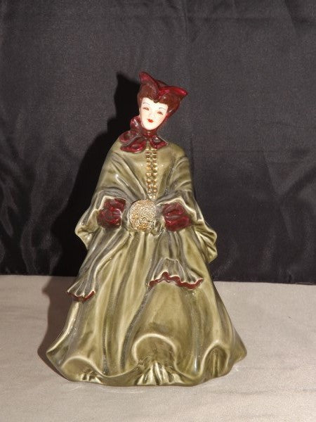 Florence Ceramics, Woman Figure, Hand Brushed Gold and Red Glazes - Roadshow Collectibles