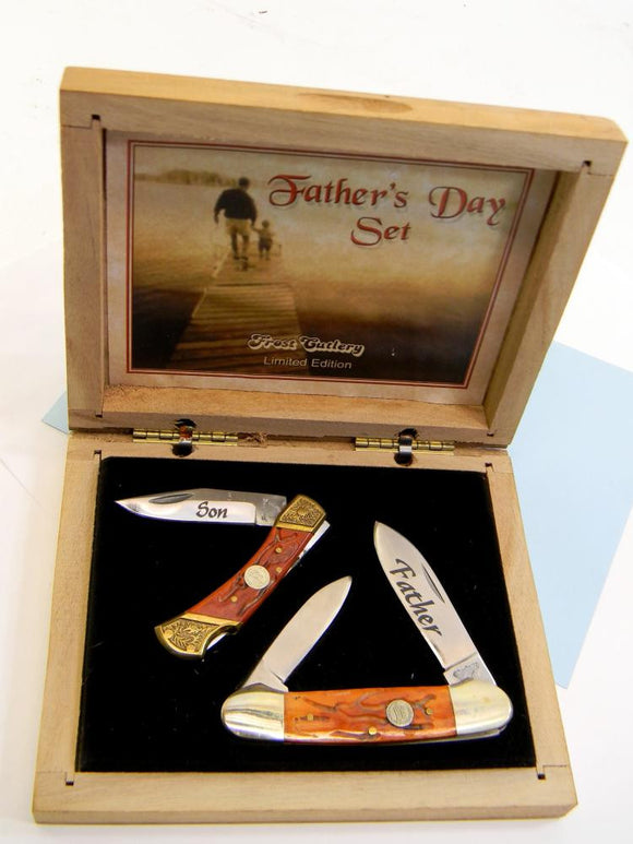 Frost Folding Pocket Knife Set, Father's Day Limited Edition with Case - Roadshow Collectibles