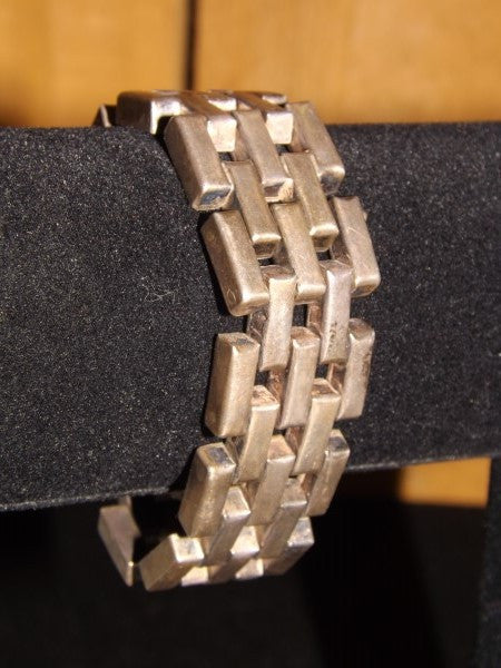 Heavy Sterling Silver Bracelet - Roadshow Collectibles