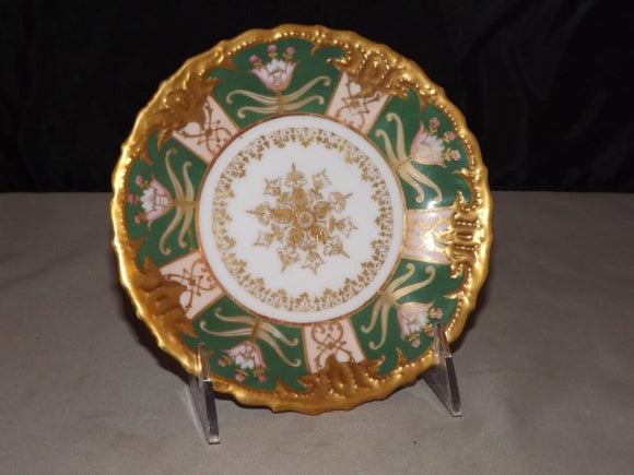 Imperial Limoges Plate, Highly Decorated, Gold and Green, France - Roadshow Collectibles