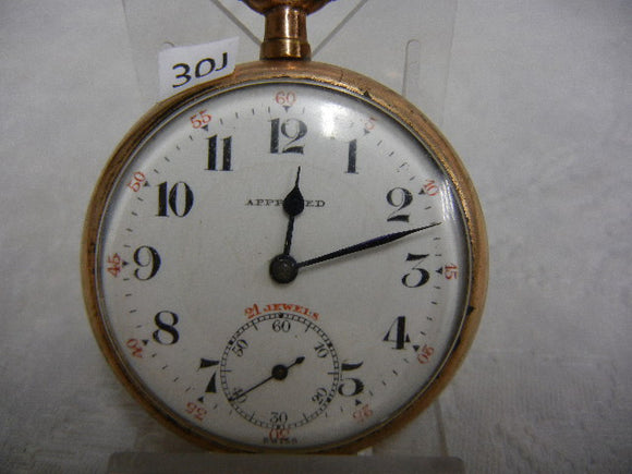 Approved 21 Jewels Swiss Made Railroad Pocket Watch - Roadshow Collectibles