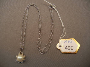 Sterling Silver Necklace with Pearl Pendant - Roadshow Collectibles