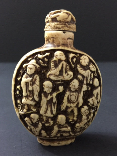Snuff Bottle Immortals, Chinese, Old. Hand Carved Stone - Roadshow Collectibles