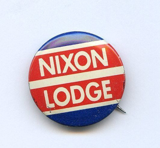 Nixon and Lodge 1960 Campaign Button - Roadshow Collectibles