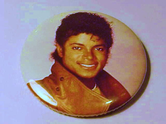 Michael Jackson Promotional Tour Button, 1980's, King Of Pop, Authentic - Roadshow Collectibles