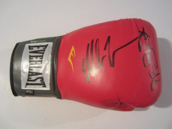 Mike Tyson & Buster Douglas Signed Autographed Everlast Boxing Glove - Roadshow Collectibles