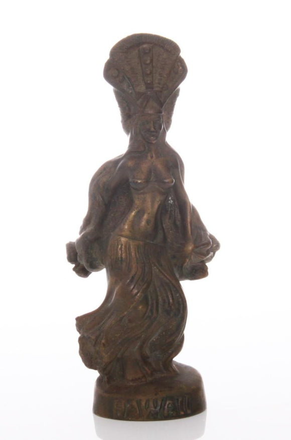 Brass Figure of a Hawaiian Hula Dancer - Roadshow Collectibles