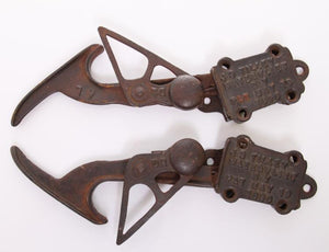Pair Of Extension Ladder Ratcheting Iron Brackets, Pat. May 19, 1896  - Roadshow Collectibles