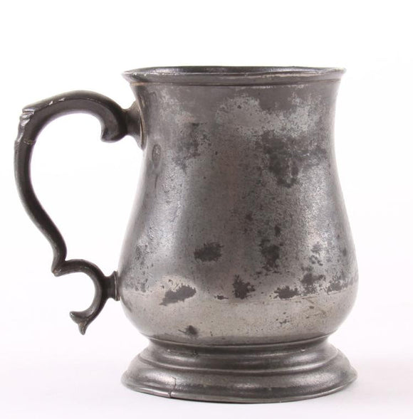 Joseph Morgan Pewter Mug, Tulip Shape, Manchester England 19th Century - Roadshow Collectibles