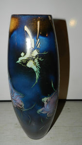 Vase with Floral and Bird Motif, Deep Colours, Marked On Base - Roadshow Collectibles