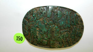 Pendant, Hand Carved In Jade, A Group of Stylized Images, Chinese - Roadshow Collectibles