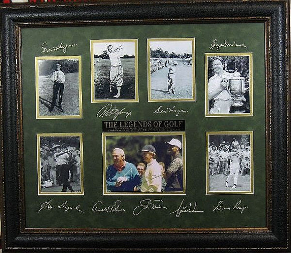 Legends of Golf with Plate Signatures Memorabilia Framed - Roadshow Collectibles