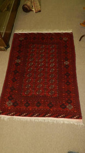Embroidered Prayer Rug, Vibrant Colours, Hand Tied, 100% Wool - Roadshow Collectibles
