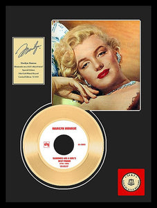Marilyn Monroe's Diamonds Are A Girl's Best Friend Framed Gold Record - Roadshow Collectibles