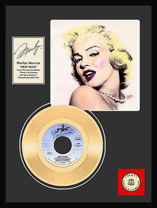 "Marilyn Monroe ""Heat Wave"" Framed Gold Record - Roadshow Collectibles"