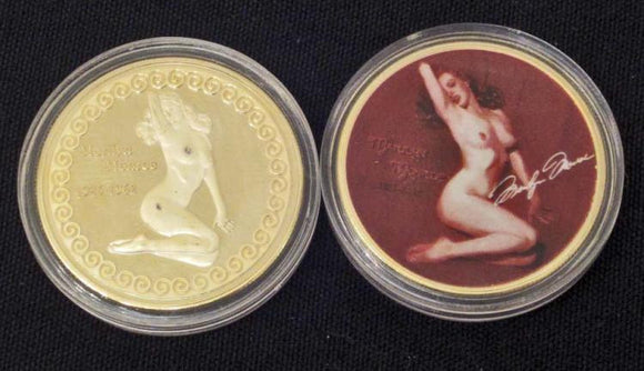 Marilyn Monroe Nude Commemorative Gold Clad Coin - Roadshow Collectibles