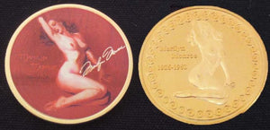 Marilyn Monroe Commemorative Risque Coin 999 Gold Clad - Roadshow Collectibles