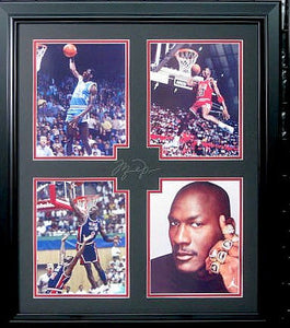 Michael Jordan Photo Framed Collage with Engraved Signature - Roadshow Collectibles