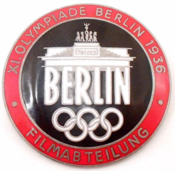 40th Olympics, Film Makers Badge, Berlin Germany, Enameled, 1936 - Roadshow Collectibles