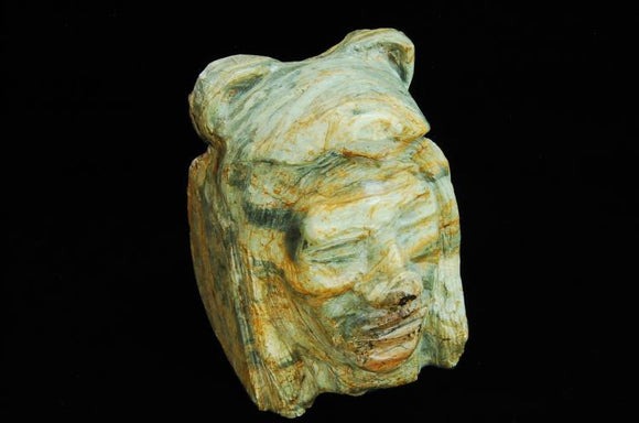 Hand Carved Bust Of Bear Chief, Natural Granite - Roadshow Collectibles