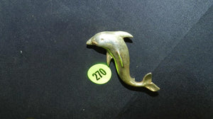 Large Sterling Silver Pin Brooch of a Porpoise - Roadshow Collectibles
