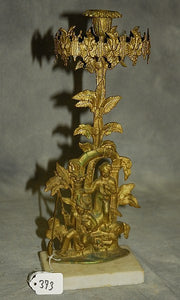 Victorian Girandole Candlestick Holder, Bronze, Figures and Branches - Roadshow Collectibles
