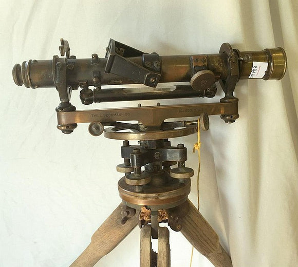 Surveyor's Instrument, Made By L. Beckmann Co, Comes With Tripod Stand - Roadshow Collectibles