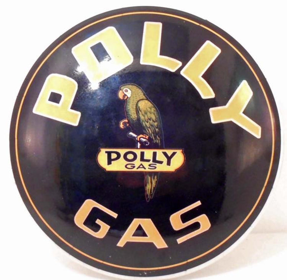 Polly Gas Dome, Metal Porcelain, Advertising Sign, Repro - Roadshow Collectibles