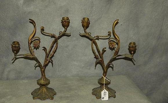 A Set Of Two-Light Candelabras, Rococo Louis XV Style, Bronze, French - Roadshow Collectibles