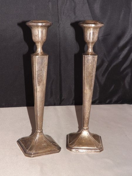 M. Fred Hirsch Weighted Sterling Silver Candlestick Holders, a Pair - Roadshow Collectibles