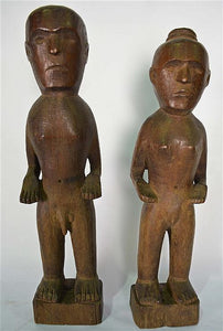 Indonesia Sumba, Hand Carved, Ancestral Figures Male and Female - Roadshow Collectibles