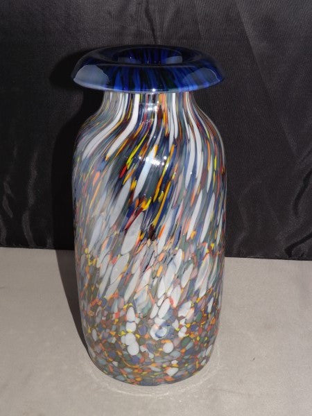 Multi Color Blown Art Glass Vase Made In Poland Roadshow Collectibles