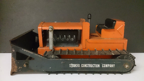 Structo Construction Co Tin Toy Bulldozer - Roadshow Collectibles