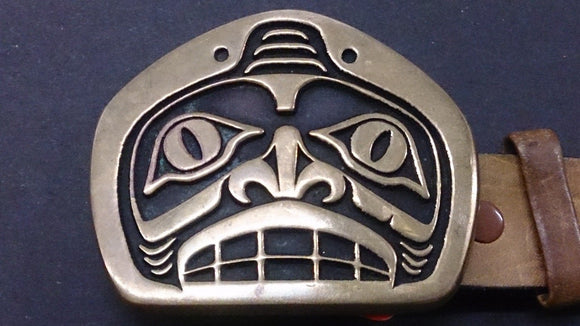 Tlingit Shark Belt Buckle, Indian Style, Bronze, Sand Cast - Roadshow Collectibles